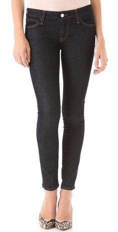 dark rinse cropped jeans