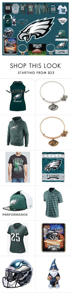 """Philadelphia Eagles"" by jenabbyreid on Polyvore featuring Alex and Ani, NIKE, Junk Food Clothing and Forever Collectibles"
