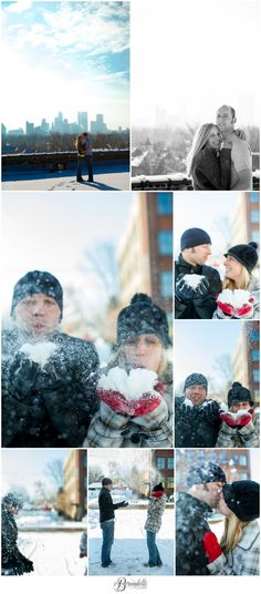Fun in the Snow! Minneapolis Engagement Session {http://fb.com/DetteSnaps.com}