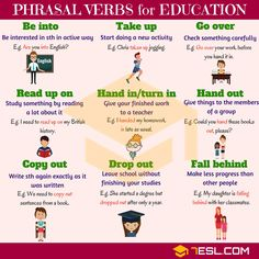 Phrasal Verbs about Education
