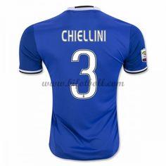 Billiga Fotbollströjor Juventus 2016-17 Chiellini 3 Kortärmad Borta Matchtröja