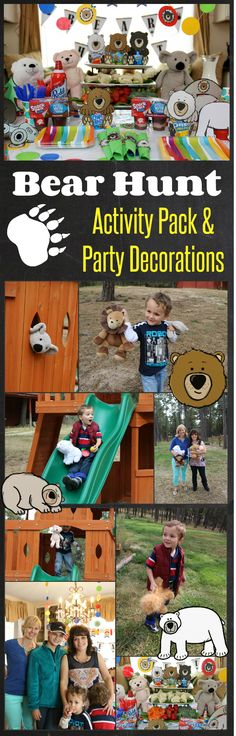 We're Going on a Bear Hunt Activities! http://www.happyandblessedhome.com/free-were-going-on-a-bear-hunt-activity-pack-and-bear-hunt-party-decorations/