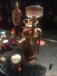 Fire extinguisher beer draft tower
