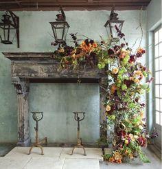 Nothing short of amazing & my favorite lanterns adorn the mantel..