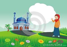 HoIslamic cartoons, with mosque and beautiful natural scenery, beautiful view… Islamic Cartoon, School Frame, Natural Scenery, Mosque, Tinkerbell, Disney Characters, Fictional Characters, Cartoons, Album