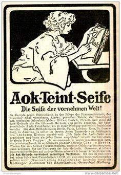 Original-Werbung/ Anzeige 1909 - AOK TEINT SEIFE -  ca. 80 x 120 mm