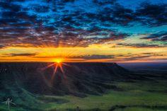 Serra do Espírito Santo nascer do sol mais bonito do Jalapão.