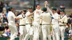 A huge victory for the hosts Australia against West Indies as Australia won the common wealth bank first test match by 212 runs and an innings.