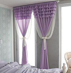 Light purple voile curtains #curtains #windowtreatments