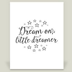 Dream on little dreamer Wall Cling by noondaydesign on BoomBoomPrints
