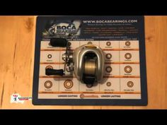 Upgraded #Shimano Chronarch CH101D7 fishing reel bearings free spin demonstration #freespin
