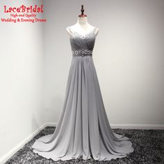 Find More Evening Dresses Information about Silver Elegant A Line Rhinestone Beaded Pleated Evening Dresses 2016 Long Women Chiffon Prom Gowns robe de soiree longue TB191,High Quality robe de soiree longue,China evening dress 2016 Suppliers, Cheap robe de soiree from do dower LaceBridal Store on Aliexpress.com