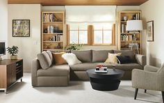 Oxford Pop-Up Platform Sleeper Sofas with Chaise - Sofas With Chaise - Sectionals - Living - Room & Board