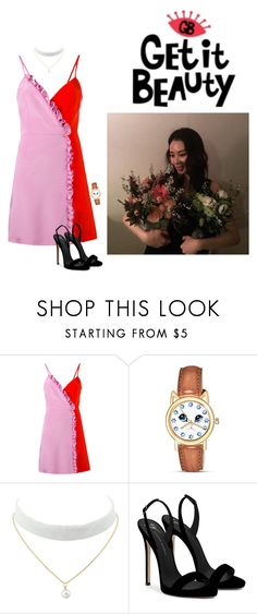 """""""Get it beauty"""" by moonhyelim ❤ liked on Polyvore featuring FAUSTO PUGLISI, The Bradford Exchange and Giuseppe Zanotti"""
