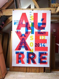 #vincentperroteet #mep #graphisme Auxerre affiche théâtre