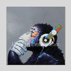 Pintada a mano Animales Cuadrado, Clásico Modern Lona Pintura al óleo pintada a colgar Decoración hogareña Un Panel 2018 - $1127.31