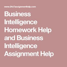 Business Intelligence Homework Help and Business Intelligence Assignment Help