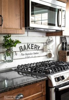 fake it till ya make it with a shiplap styled bakery sign, how to, kitchen…