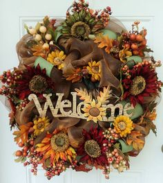 Thanksgiving Wreaths | Fall Thanksgiving Wreath | * So Many Wreathes *