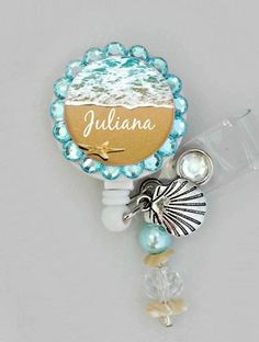 Hey, I found this really awesome Etsy listing at https://www.etsy.com/listing/188272821/blue-beach-id-badge-reel