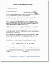 non disclosure agreement form template - Confidentiality Agreement Form