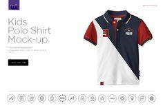 Kids Polo Shirt Mock-up by mesmeriseme.pro on @creativemarket
