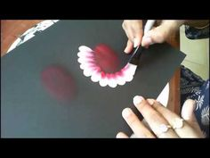 Tutorial- Triple Tear Drop Flowers - YouTube