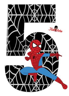 EUGENIA - KATIA ARTES - BLOG DE LETRAS PERSONALIZADAS E ALGUMAS COISINHAS: Homem Aranha - Letras e Números Spiderman Birthday Cake, Spiderman Theme, Black Spiderman, Avengers Birthday, Superhero Birthday Party, Boy Birthday, Spiderman Stickers, Birthday Numbers, Birthday Letters
