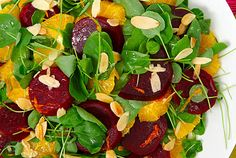 Beet, Orange and Watercress Salad—Sweet roasted beets get a fresh orange lift in this colourful salad with a tangy vinaigrette. Substitute a mixture of arugula, radicchio and fresh spinach for the watercress if you like.