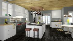 Rustic Kitchen - Chief Architect Software