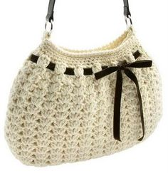 : Crochet Hobo Bag Just One More Line.: Crochet Hobo Bag Not my first crochet bag, but my first BIG one. larger than anticipated (I like small purses), so I made another the size. Crochet Hobo Bag, Crochet Handbags, Crochet Purses, Crochet Bags, Crochet Crafts, Crochet Projects, Hobo Bag Patterns, Handbag Patterns, Love Crochet