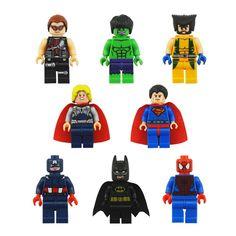 8 Piece Super Hero Set