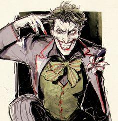 Joker (Just smile) Joker Batman, Joker Comic, Batman Art, Joker Kunst, The Man Who Laughs, Joker Und Harley Quinn, Jokers Wild, Batman Universe, Dc Universe