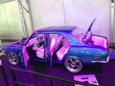Datsun blue with white interior