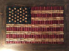 American flag cork board. Diy, rustic, wine corks, wine, America