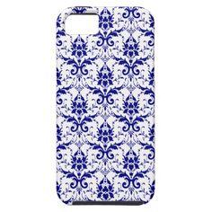 Elegant Blue White Damask Pattern iPhone 5 Case @Gary Meadowcroft Meadowcroft Gilmore want it!