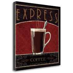 Tangletown Fine Art 'Coffee Shop IV' by Marco Fabiano Vintage Advertisement on Wrapped Canvas