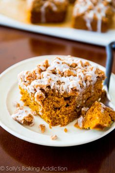 The smell of this glazed crumb pumpkin cake will be enough to wake you up in the mornings.   Get the recipe at Sally's Baking Addiction.