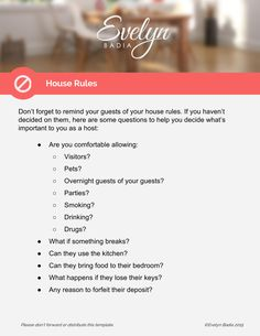 Airbnb Welcome Letter Template With Download Airbnb Airbnb House Rules Airbnb House Airbnb