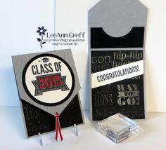 card making video: Graduation Pennant Card