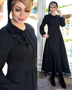 مدل پیراهن ژاله دخترونه و خانمانه جنس پیراهن:اسکاجی گل برجسته قد :135 تک رنگ سایزبندی :36تا46 قیمت تومان پست رایگان جهت سفارش در تلگرام به شماره پیام بدین همچنین امکان سفارش در دایرکت اینستاگرام و واتزآپ وجود دارد. Abaya Fashion, Muslim Fashion, Fashion Dresses, Hijab Dress, Dress Outfits, Mode Abaya, Hijab Fashionista, Iranian Women, Abaya Designs
