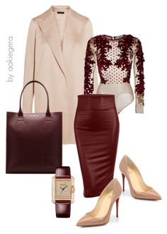 A fashion look from December 2016 featuring pink coats, high waisted midi skirt and Christian Louboutin. Browse and shop related looks. Lila Outfits, Mode Outfits, Classy Outfits, Chic Outfits, Beautiful Outfits, Look Fashion, Autumn Fashion, Womens Fashion, Fashion Trends