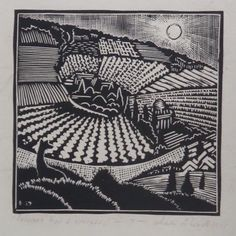 WHARTON ESHERICK (1887-1970), Soloman had a Vineyard, #7,1927, Woodblock print