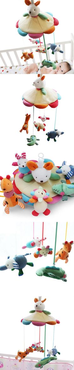 SHILOH Hot Sale Mamas&Papas Cot Hanging Toy Baby Rattle Toy Soft Plush Rabbit Musical Mobile Products 60 Songs $48.8