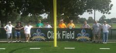 Clark Field - This Saturday, several members of our club added nice wind screens to the fences behind each end zone labeling Clark Field and showing our Kiwanis logos. It has been a huge project for us, and should be back open soon, in time for all of the schools and organizations who use this facility. Clark Field has been used for many years, but now it will accessible rain or shine, night and day thanks to the state-of-the-art lighting installation and the subsurface drainage system.