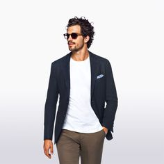 suitsupply: Wear a plain tee under our airy Havana jacket for some serious no-hassle style. http://suitsupp.ly/1RiKyKW