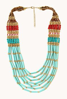 Perfect with a solid black or white tee. Globetrotter Layered Necklace | FOREVER21 - 1000064997