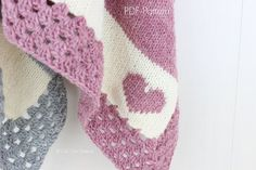 PATTERN 27 - This listing is a PDF PATTERN of how to make the Cali Kids Baby Blanket.  NOT A PHYSICAL BLANKET FOR SALE.  ♥ Knitting pattern forhttps://teeleg.com