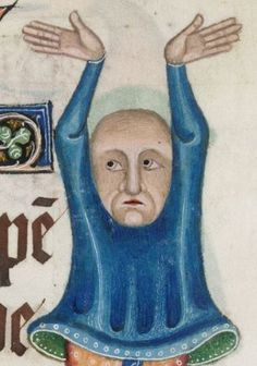 Detail from The Luttrell Psalter, British Library Add MS 42130 (medieval manuscript,1325-1340), f201r