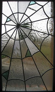 Leaded glass work, perfect for our place at 1313 Mockingbird Lane